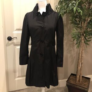 Steve Madden Black Trench Coat Large